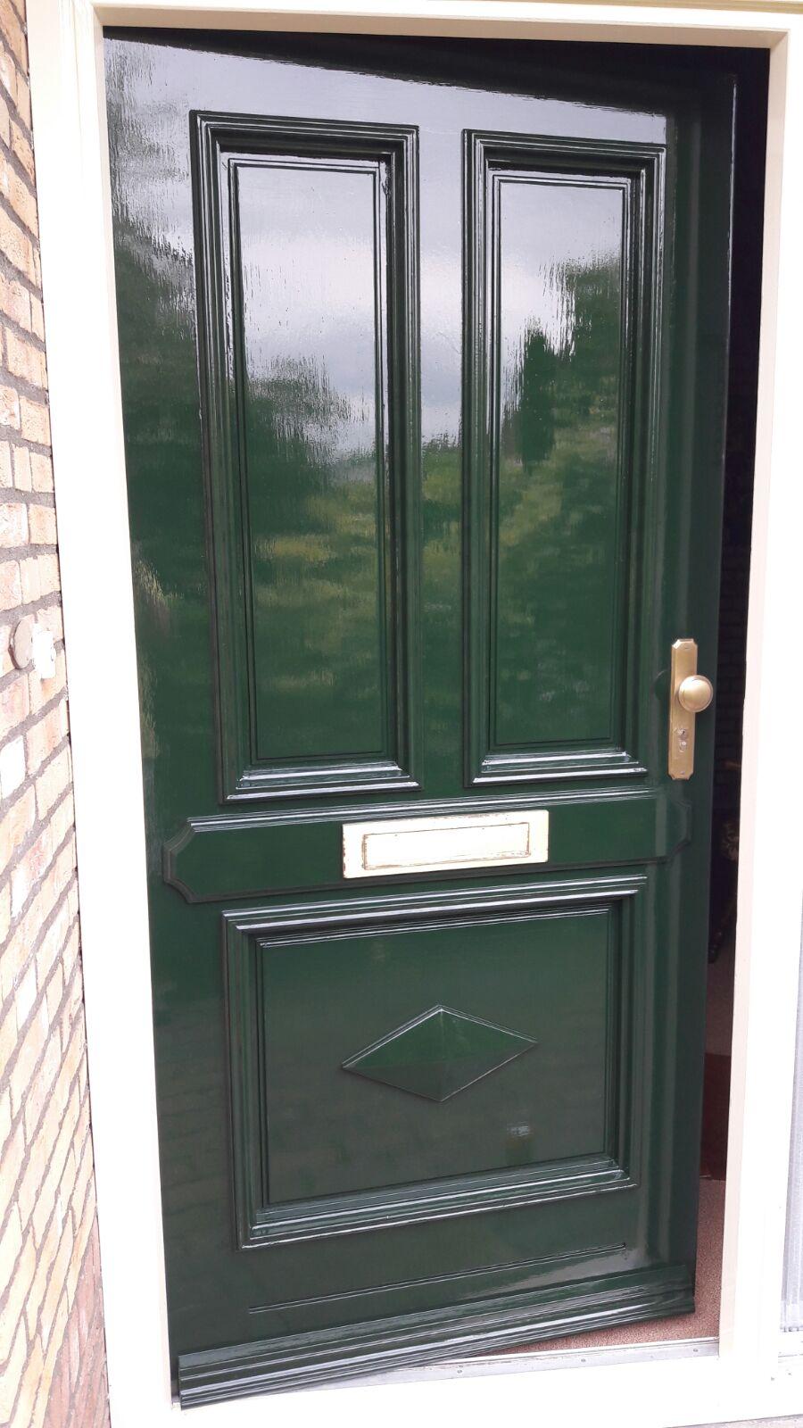 Groene voordeur